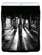 Pier Shadows Duvet Cover
