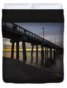 Pier Sunrise On A Cold January Morning Duvet Cover