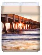 Pier Sunrise Too Duvet Cover