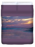 Pier Sunset Duvet Cover
