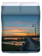 Pier Sunset Duvet Cover