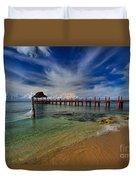 Pier To Paradise Duvet Cover