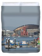 Pierhead Building In Cardiff Bay Duvet Cover