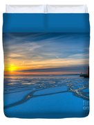 Pierhead Polar Vortex Sunrise Duvet Cover