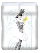 Pierrette In Love Duvet Cover