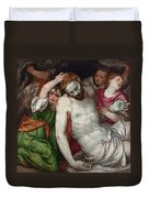 Pieta And Angels Duvet Cover