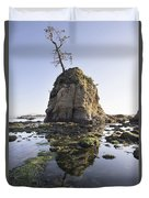 Pig And Sows Rock In Garibaldi Oregon At Low Tide Duvet Cover