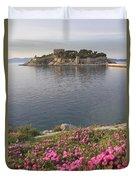 Pigeon Island Kusadasi Turkey  Duvet Cover