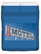 Pigeon Roost Motel Sign Duvet Cover