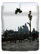 Pigeons Of San Marco  Duvet Cover