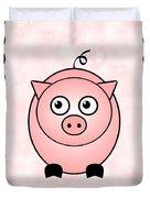 Piggy - Animals - Art For Kids Duvet Cover
