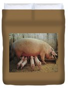Momma Pig And Piglets Duvet Cover by Terry DeLuco