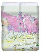 Pigs Cartoon Duvet Cover