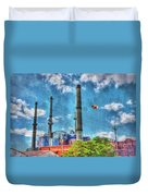 Pigs On The Wing Revisited Duvet Cover