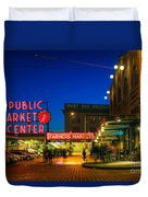 Pike Place Market Duvet Cover by Inge Johnsson