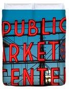 Pike Place Public Market Seattle Duvet Cover