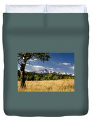 Pikes Peak And Snow Duvet Cover