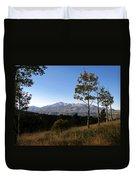 Pikes Peak Landscape Duvet Cover