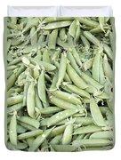 Pile Of Sugar Peas Background Duvet Cover