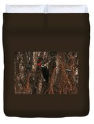 Pileated In Winter Duvet Cover