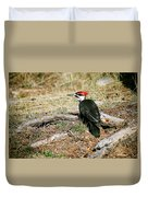 Pileated Woodpecker Forest Floor Duvet Cover
