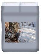 Pileated Woodpecker Winter Duvet Cover