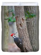 Pileated Woodpecker On Tree Duvet Cover