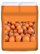Piles Of Pumpkins Duvet Cover