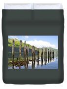 Pilings Duvet Cover