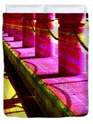 Pillars And Chains - Color Rays Duvet Cover