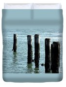 Pillars Of The Sea Duvet Cover