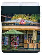 Pin Traders Downtown Disneyland 02 Duvet Cover
