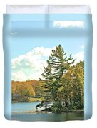 Pine By The Water Duvet Cover