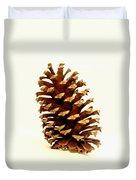Pine Cone On White Duvet Cover