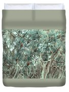 Pine Cones And Lace Lichen Duvet Cover