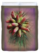 Pine Flower Bouquet Duvet Cover