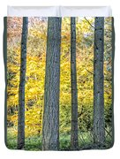 Pine Forest In The Autumn Duvet Cover