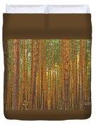 Pine Forest Lienewitz Germany Duvet Cover