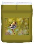 Pine Siskin - Digital Paint Duvet Cover