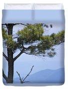 Pine Tree Along The Blue Ridge Parkway Duvet Cover