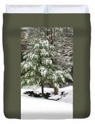 Pine Tree Covered With Snow 2 Duvet Cover