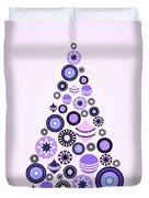 Pine Tree Ornaments - Purple Duvet Cover