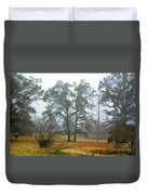 Pine Trees In Mist - Digital Paint 1 Duvet Cover