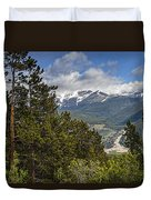 Pine Trees In The Rocky Mountain National Park Duvet Cover