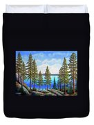 Pine Woods Lake Tahoe Duvet Cover