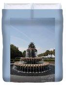 Pineapple Fountain Charleston Duvet Cover