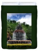 Pineapple Fountain Duvet Cover by Skip Willits