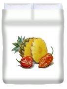 Pineapple Habanero Muy Caliente   Duvet Cover