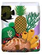 Pineapple Reef Duvet Cover