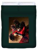 Pinecones Christmasbox Duvet Cover